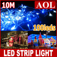 Wholesale Led Christmas Curtains For Sale - Factory onling sale LED String Lights 10M 100leds for Clear Wire Christmas decoration lamp 100m lot