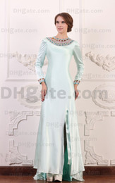 Chinese  Custom Made Modest Evening Gown 2018 Long Sleeves Beaded Modest Mother Of Bride Dresses MD004 manufacturers