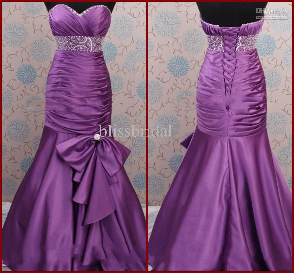 High Quality Hot Sexy Sweetheart Mermaid Evening Dresses Appliques Sequins Bow Taffeta Prom Dresses