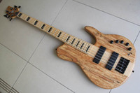 HOT SALE 5 strings new Electric bass Natural one piece ash 2...