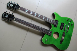 Wholesale Semi Hollow Guitar 12 - New arrival double neck guitar green 2012 05 28