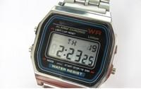 Wholesale Fold Change - 10pcs lot F-91W watches f91 fashion -thin LED change F-91w photoelectron watches F 91 W sport watch