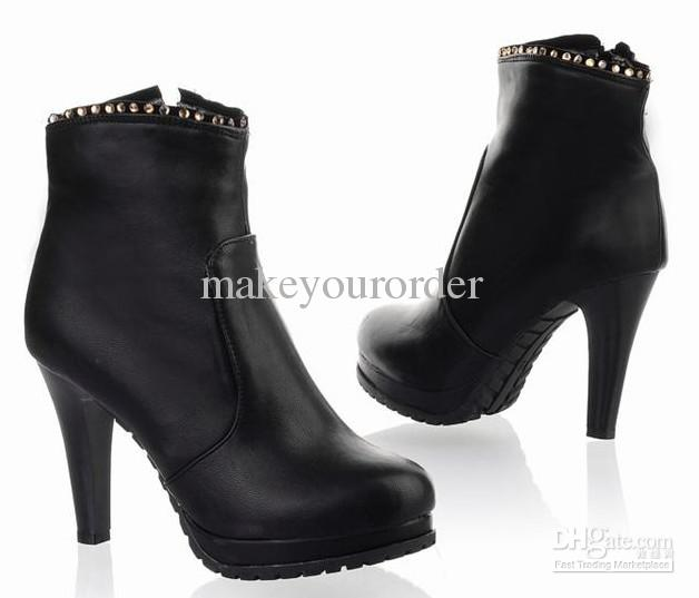 wholesaler factory price High Leg Boots short boots sexy rude heel ankle women boot