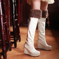 Wholesale Leather Nose Hook - wholesaler brandname free shipping factory price long boot round nose platform Slipsole Knee lady sexy boots