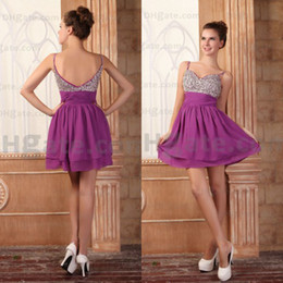 2019 barato tornozelo comprimento vestidos casuais Novo mini vestido !! Espaguete Estilo Mini Frisado Vestido de Festa PT006