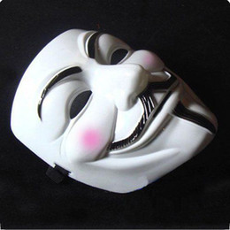 Wholesale Vendetta Mask White - Party mask V for Vendetta masks Halloween Mask v mask Face Masks 10 PCS lot Free shipping