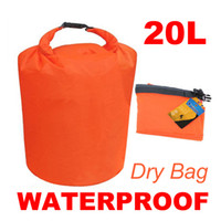 Wholesale Dry Bags For Kayaking - 50 pcs lot 20L Waterproof Dry Bag for Canoe Floating Boating Kayaking Camping Hiking