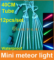 Wholesale Holiday Driver - 12pcs set 40cm led meteor shower light with driver waterproof christmas decoration led meteor Light