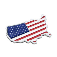 Wholesale American Flag Body - 3D Metal The American flag stickers Car Emblems Badges Car styling