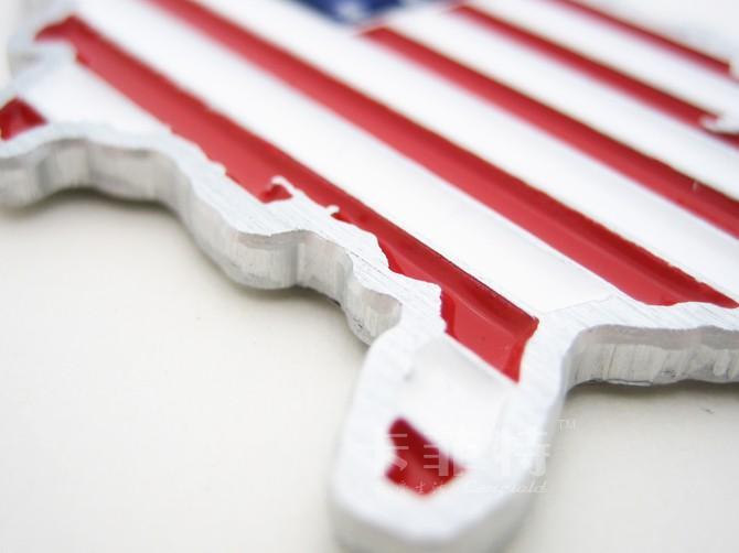 3D 금속 미국 국기 스티커 자동차 엠 블 럼 배지 자동차 스타일링