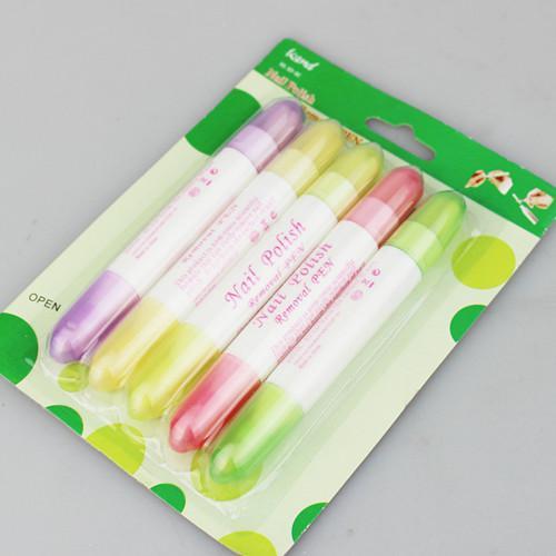 12セット/ロットマニキュア除去ペン非有毒な非洗浄ツール石油ネイルの迅速な除去