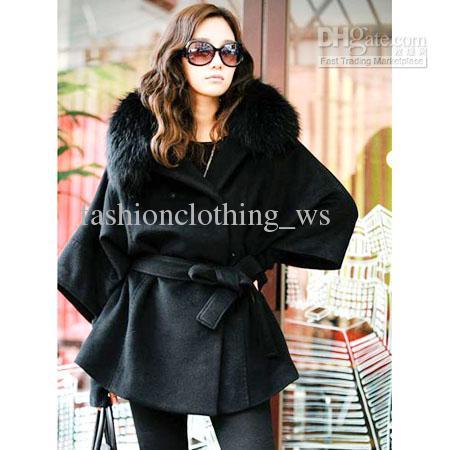 82e8247a9128 2019 Nostalgic Classic Women Woolen Coat Luxury Fur Collar Fashion Coats  Elegant Winter Clothing Outwear From Fashionclothing ws