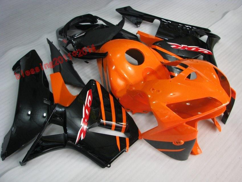 Carenados de la motocicleta del ABS del negro anaranjado para Honda CBR600RR 2005 2006 CBR 600 RR cbr600 F5 05 06 Moldeo por inyección