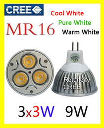 Wholesale Cree Light Bulb Prices - For Lowest Price led lamp 3x3W 9W MR16 E27 GU10 12V Led Lights led Spotlight LED Bulbs Downlight