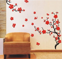 Wholesale Blossom Tree Sticker - Decorative Wall Paper plum blossom Art Sticker beaty plum blossom Flower Tree