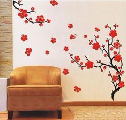 Wholesale Blossom Tree Sticker - Decorative Wall Paper plum blossom Art Sticker beaty plum blossom Flower Tree