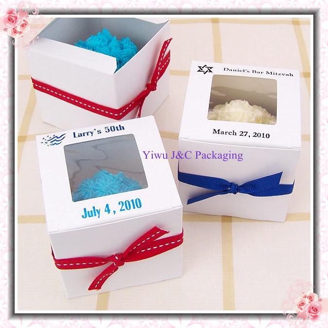 Decorative Cupcake Boxes Glamorous Hot Sales Single White Wedding 9X9 Cupcake Boxeswedding Gift Box Decorating Design