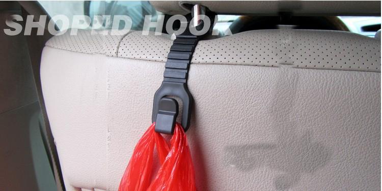 50PR / LOT الجملة سيارة / شاحنة المقعد الخلفي شماعات هوك حقيبة منظم اكسسوارات السيارات