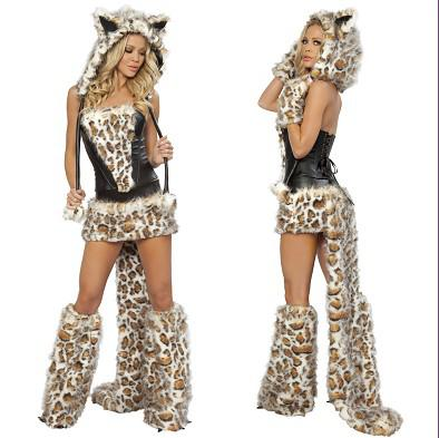 2018 sexy furry leopard halloween costumes animals catwolfleopard nightclub ds clothing gift from vivian5168 5847 dhgatecom