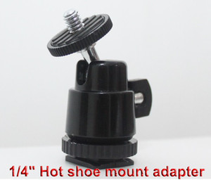 Wholesale 1 quot Hot shoe mount adapter with adjustable angle pole