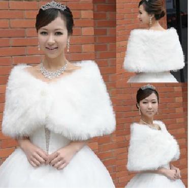 무료 배송 화이트 가짜 모피 결혼식 신부 겨울 랩 숄 스카프 추운 날씨 코트