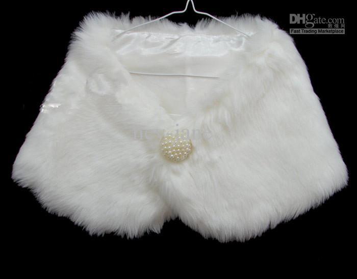 2018 Winter Warm White faux fur wedding bridal Bridal Shawl Wrap Shawl Bolero Tippet