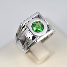 Wholesale Emerald Ring Set - Hot Sale!!! Green Lantern Emerald 925 Sterling Silver Ring Fashion Man Rings Free Shipping