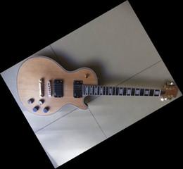 Wholesale Electric Guitar Kits Mahogany Body - Mahogany Body Unfinished Electric Guitar Kit With Flamed Maple Top with Dual Humbuckers
