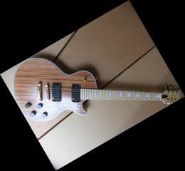 Wholesale Maple Finish - Mahogany Body unpainted Electric Guitar Kit maple neck best finish