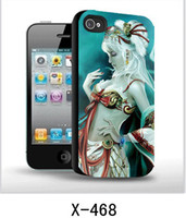 Wholesale Case For Iphone4 Luxury - Luxury 3D cell phone case skin cover cases for iphone4 4S 4G cartoon case 10 designs for chose XMAS