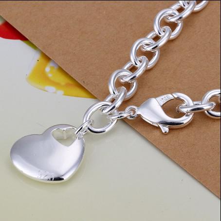 Nagelneue hohe Qualität 925 silberne Herz hängende Kettenarmband-Art und Weiseschmucksachen geben Verschiffen 10pcs frei
