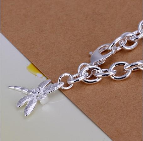 Hoge kwaliteit 925 zilver de libel hanger ketting armband kerstcadeau sieraden gratis verzending