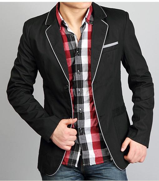 2016 Fashion Mens Slim Sexy Light Blazer Short Coat Jackets ...