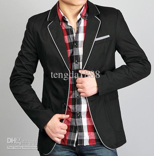 2016 Fashion Mens Slim Sexy Light Blazer Short Coat Jackets