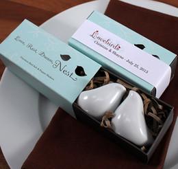 Wholesale Shaker Pepper - Ceramic Pepper Shakers Salt shaker Wedding Favor Christmas gift Lover birds dream nest