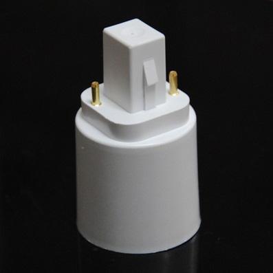 G24 a E27 Socket LED Base de luz halógena Convertidor Adaptador de extensión Extender conversión de portalámparas