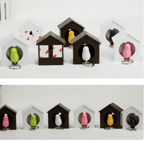 Oiseau Nest Moineau porte-clés sifflet porte-clés porte-clés anti-perdus clé siège oiseau maison clé pendentif