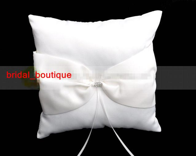 New Arrival Cheap Ivory Satin Ring Pillow Wedding Favor Guest Books & Feather Pen Container Sets 125