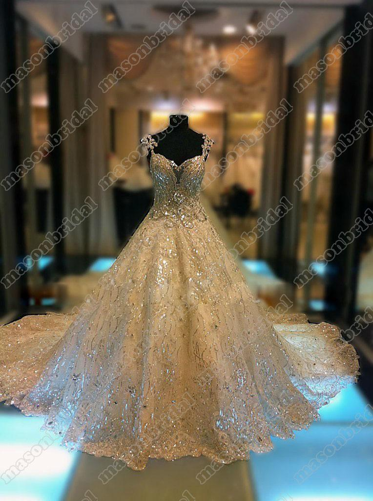 2013 Gorgeous Sweetheart A Line Cathedral Train Beading Sequin Organza Bridal Wedding Dresses M068