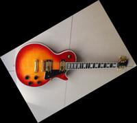 Wholesale Ebony Board - New Arrival best finish custom electric guitar ebony board fretside binding cherry in stock HOT SALE