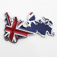 Wholesale Personalized Jack - Wholesale 3D Metal union jack British Flag Stickers Decals For Car Car styling