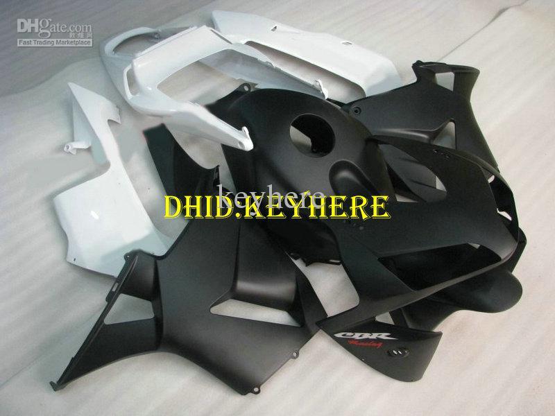 Carénage ABS noir mat blanc injectable pour HONDA CBR 600RR 2003 2004 CBR600RR 03 04 F5 carénage ABS