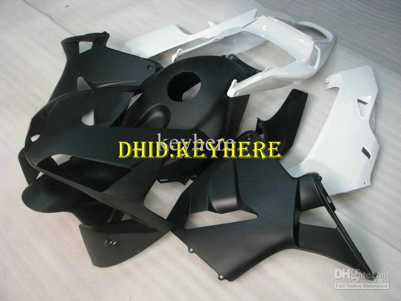 Injektion Matt Black White ABS Fairing för Honda CBR 600RR 2003 2004 CBR600RR 03 04 F5 ABS FAININGS
