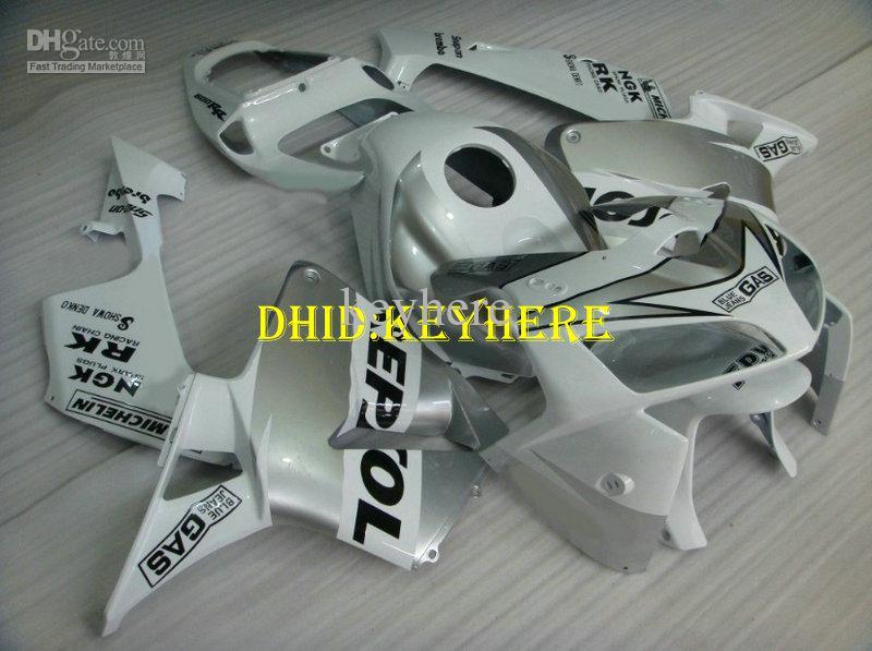 Injectie Motorfiets Wit Repsole Racing Fairing Kit voor Honda 2005 2006 CBR 600RR 05 06 CBR600RR F5