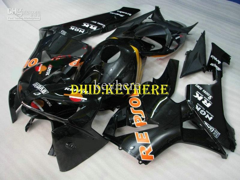 Einspritzungsschwarz repsol ABS-Rennsportverkleidung für HONDA 2005 2006 CBR600 RR CBR600RR 05 06 F5 Körperausrüstungen
