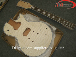 Wholesale Unfinished Electric Guitar Bodies - custom shop Guitar Body Flame Maple Top Unfinished Electric Guitar Body only Guitar body