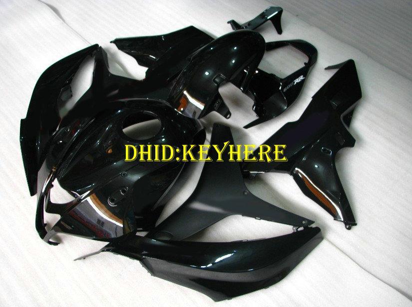 Injection tout noir brillant Carénage sur mesure pour HONDA 2007 2008 CBR600RR CBR600 RR 07 08 F5 carénages