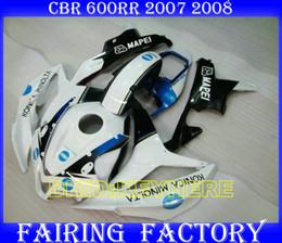 Race Honda Canada - Injection white blue MAPEI Racing fairings for HONDA 2007 2008 CBR600RR 07 08 CBR600 RR F5 body kits
