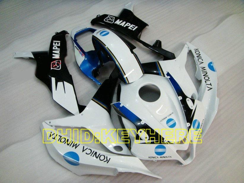 Inyección blanco / azul MAPEI Racing carenados para HONDA 2007 2008 CBR600RR 07 08 CBR600 RR F5 kits de cuerpo