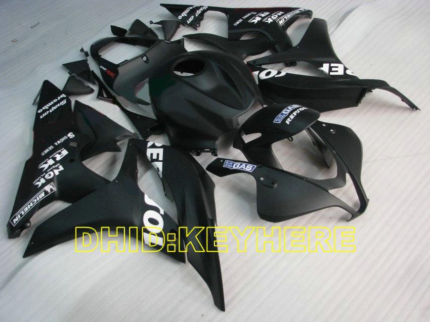 Carenados ABS repsol negros de inyección para HONDA 2007 2008 CBR600RR 07 08 CBR600 kits de carrocería RR F5